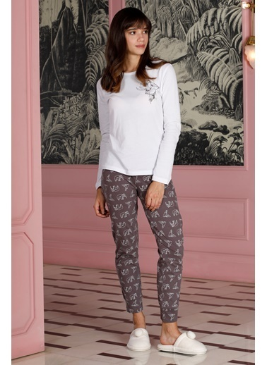 Hays Kadın Penye 2li Pijama Takımı Mor